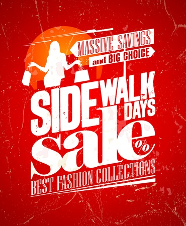 Sidewalk sale grunge design. Eps10. Çizim
