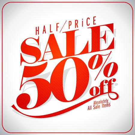 Half price sale design.