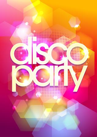 Hot disco party Hintergrund Bokeh. Eps10.