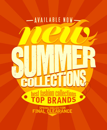 best buy: New summer collections available now design. Illustration