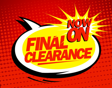Final clearance design in pop-art style.