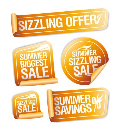 焼けるように暑い夏を提供、貯蓄と販売ステッカー セット