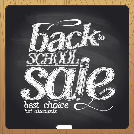 school class: Back to school sale blackboard chalk design.