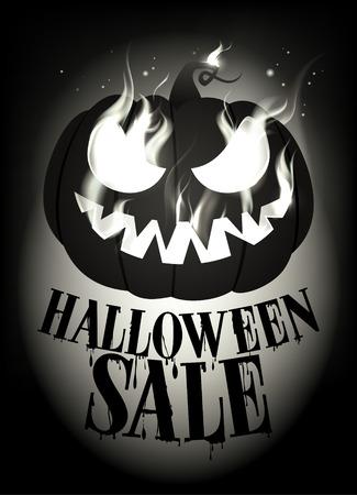 eps10: Halloween sale design. Eps10