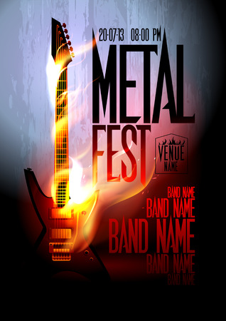 fest: Metal fest design template with place for text.