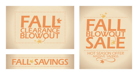 Fall blowout sale banners.