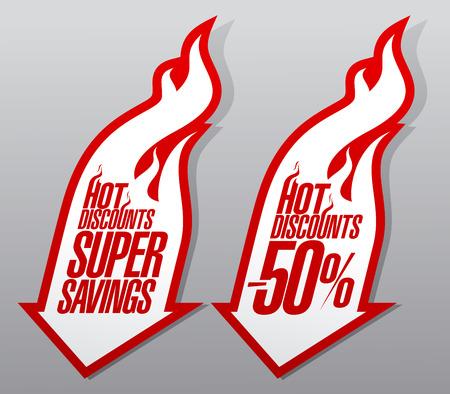 Descuentos calientes, super ahorro punteros de fuego.
