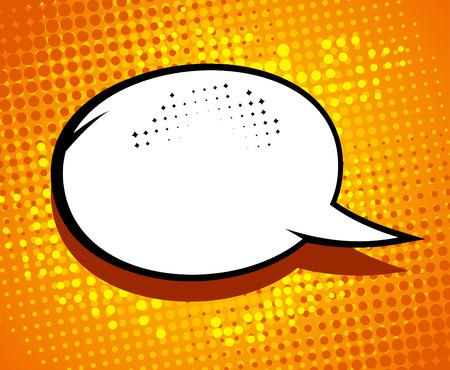 Comic speech bubble in pop-art style. Illustration