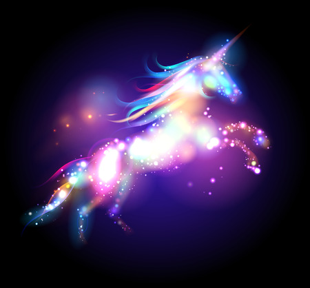 ponies: Star magic unicorn logo template.