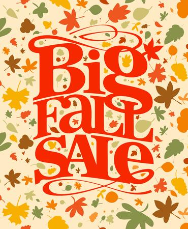 Big fall sale banner.