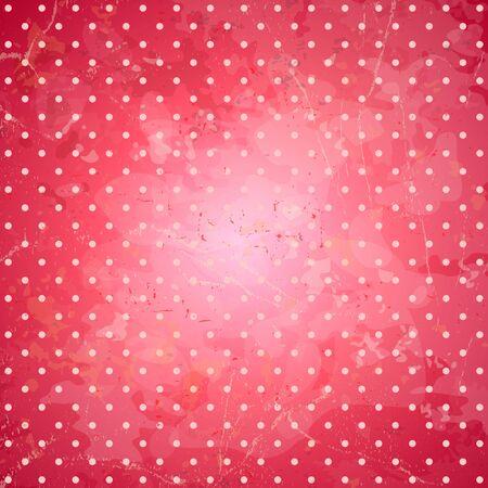 backdrop: Grunge pink polka dots backdrop.