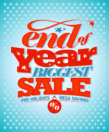 End of year pre-holidays sale design.