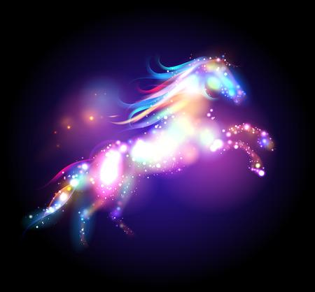 魔法の馬のロゴのテンプレート。