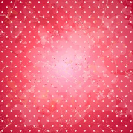 backdrop: Grunge pink polka dots backdrop Illustration