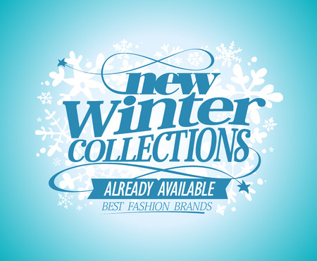 coming: Fashion vector poster New winter collections already available, best fashion brands.