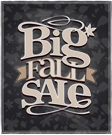 Chalkboard big fall sale vintage design.