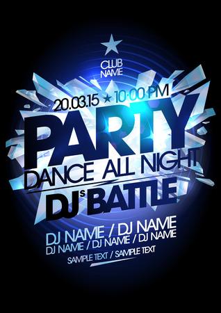 battle: Dance party icy design.