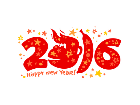 next year: 2016 happy new year numbers design.