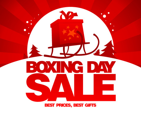boxing day sale: Boxing day sale design.