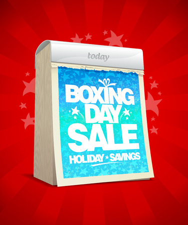 boxing day sale: Boxing day sale design in form of tear-off calendar.