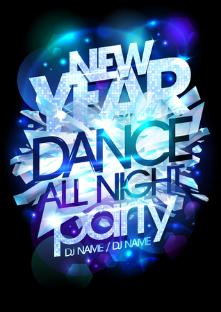new year party: New year dance party icy design. Illustration
