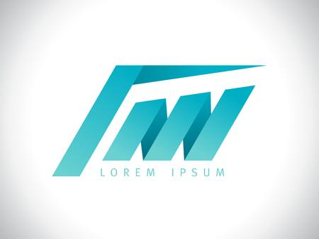 Geometric building symbol logo design Illustration