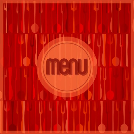 restaurant  menu: Abstract red modern restaurant or cafe menu card design Illustration