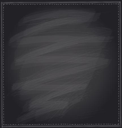 chalk frame: Hand drawn illustration on a blackboard with simple chalk frame