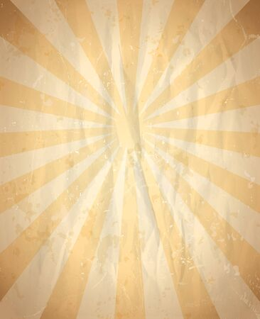 crumpled: Vintage crumpled paper backdrop with rays