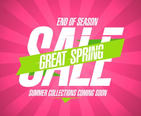 Spring sale template design vintage.