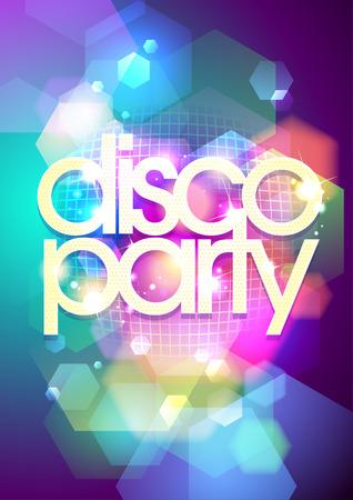 disco dance: Bokeh disco party background. Eps10. Illustration