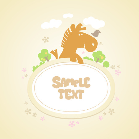 page background: Baby background with frame. Illustration