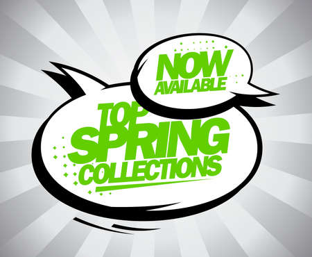 available: Top spring collections design with balloons.