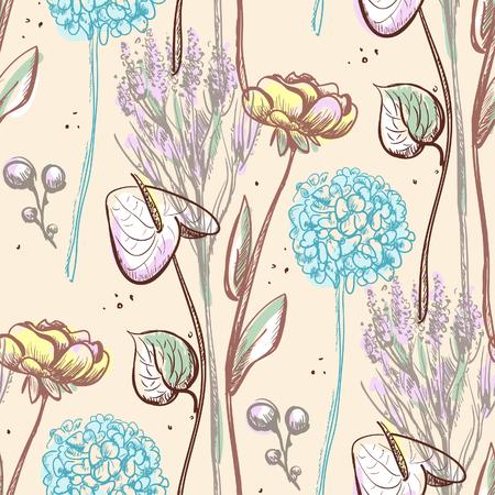 anthurium: Flower graphic pattern. Illustration