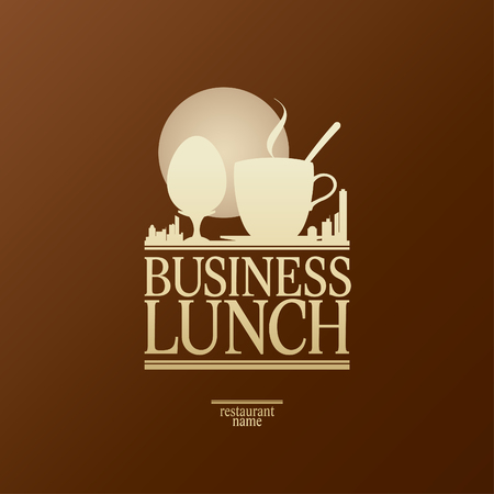 continental food: Business Lunch Menu Card Design template.