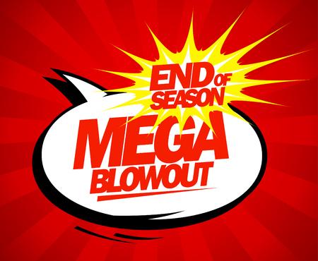 blowout: Mega blowout sale design in pop-art style. Illustration
