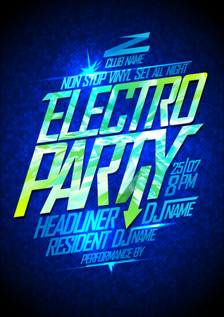 dub: Electro party neon poster design