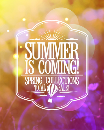 Fashion banner - summer is coming, spring collections total sale