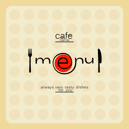 cybercafe: Modern internet cafe menu card. Illustration