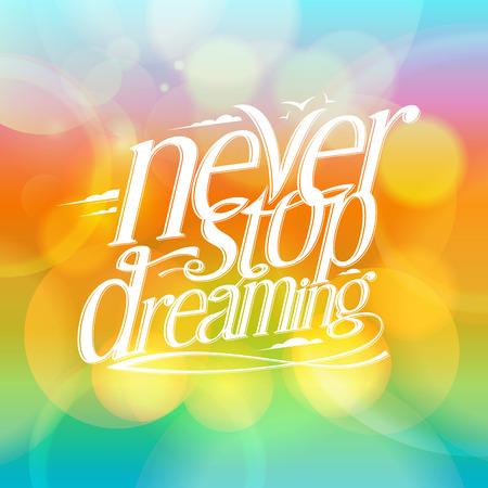 soñando: Tarjeta de la cita - Nunca deja de soñar