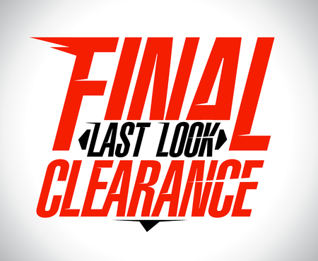 look at: Last look final clearance banner design