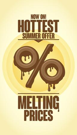 melt: Melting prices, hottest summer offer design Illustration