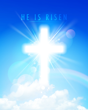 he: He is risen religious card