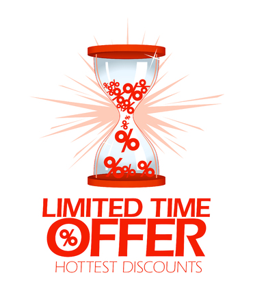hottest: Limited time offer, hottest discounts hourglass symbol.