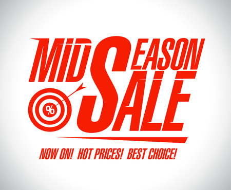 new arrivals: Mid season sale design template with target