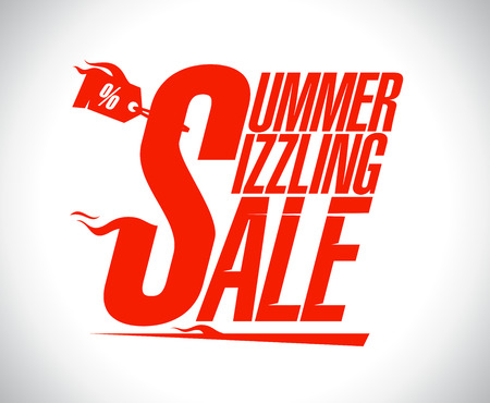sizzling: Summer sizzling sale design.