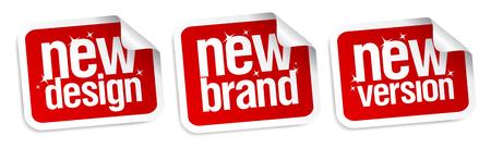 version: New Brand, Design, Version stickers set.