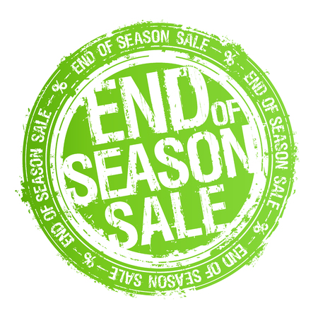 End of season sale vector rubber stamp