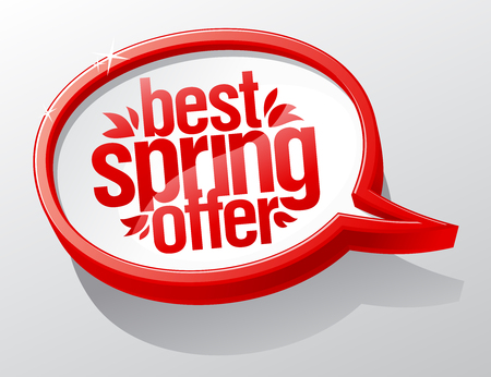 Best spring offer red speech bubble