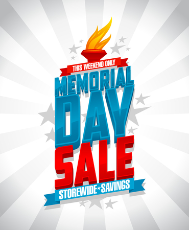 Memorial day sale storewide savings vector design.